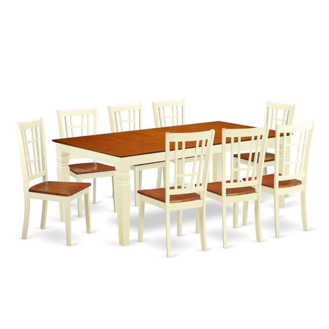 Wood Seat Kitchen Dinette Set with One Logan Dining Table ...