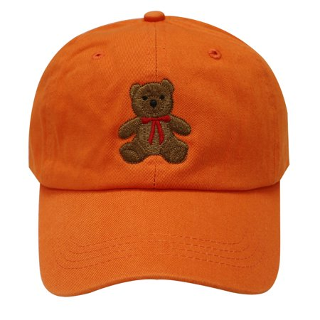 C104 Teddy Bear Cotton Baseball Cap (Orange) - Walmart.com 4cbf6e3e923