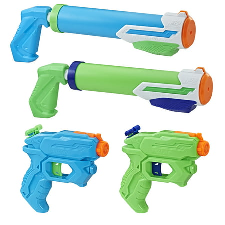 Homemade Water Gun (Super Soaker Floodtastic Water Blaster 4-Pack, Ages 6 and)