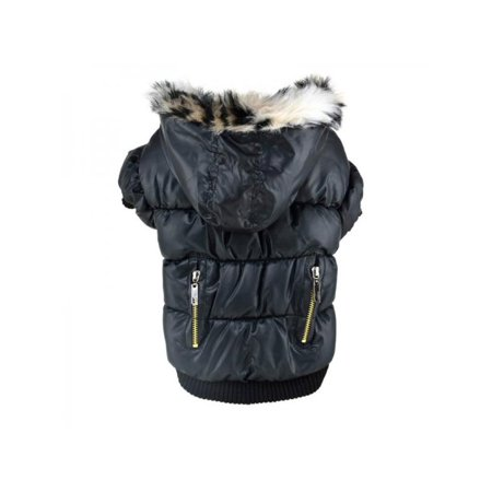 Sweetsmile Cute Pet Dog Hooded Jacket Clothes Puppy Winter Sweater Coat Zipper Fold Design Warm Pet Coat