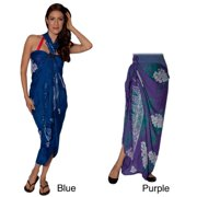 Women's Dolphin-print Summer Sarong and Buckle (Indonesia) Purple