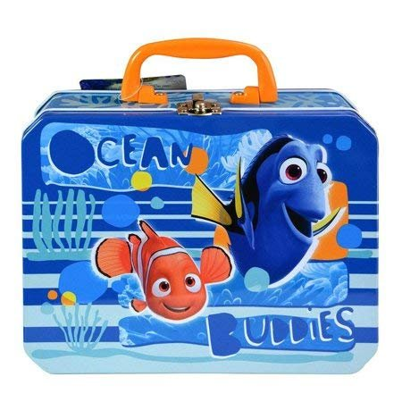 Finding Dory Pixar Ocean Buddies Dory and Nemo Sea Deluxe Rectangle Tin Lunch Box Bag Container Children
