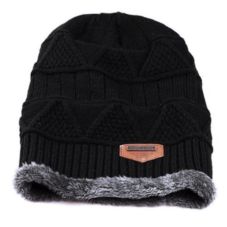 Men's Soft Stretch Knit Lined Thick Warm Ski Cap Winter Wool Slouchy Beanies Hat](Gangster Beanies)