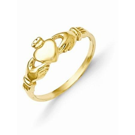 14k Madi K Claddagh Baby Ring Size 1 ()