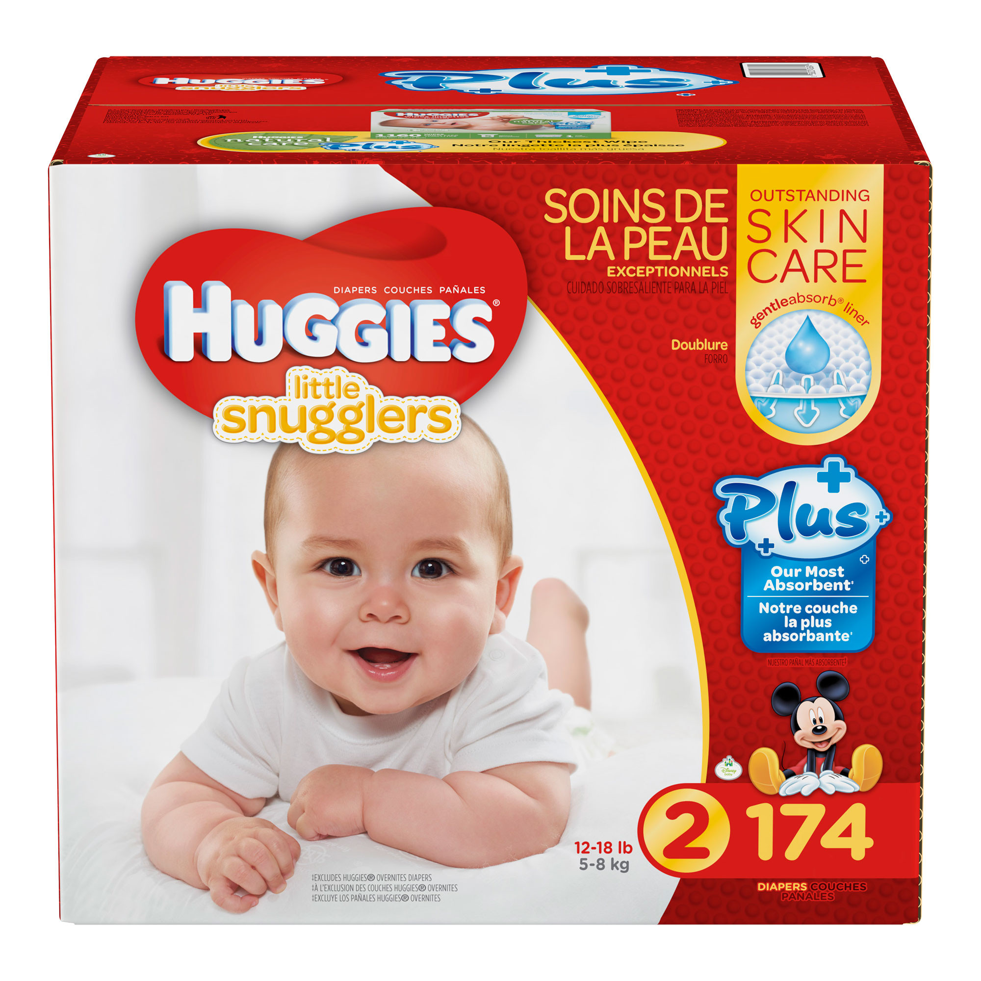 Huggies Little Snugglers Plus Diapers Size 2 174-count by HUGGIES