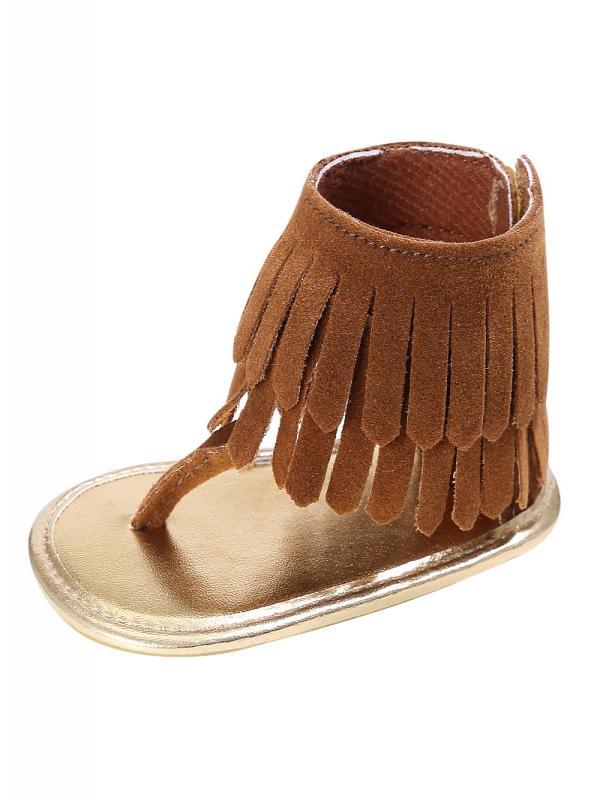 Nicesee Summer Baby Girl Tassel Sandal Shoes Anti-slip