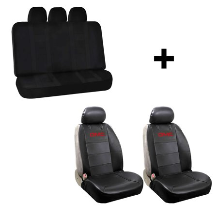 Super 2 Synthetic Leather Sideless Seat Covers Free Uaa Inc Universal Black Bench Car Truck Suv Van For Gmc Dailytribune Chair Design For Home Dailytribuneorg