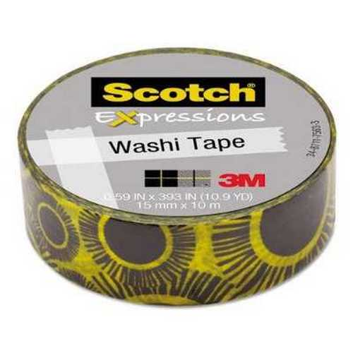 "3m C314P21 Expressions Washi Tape, .59"" X 393"", Sunflowers"