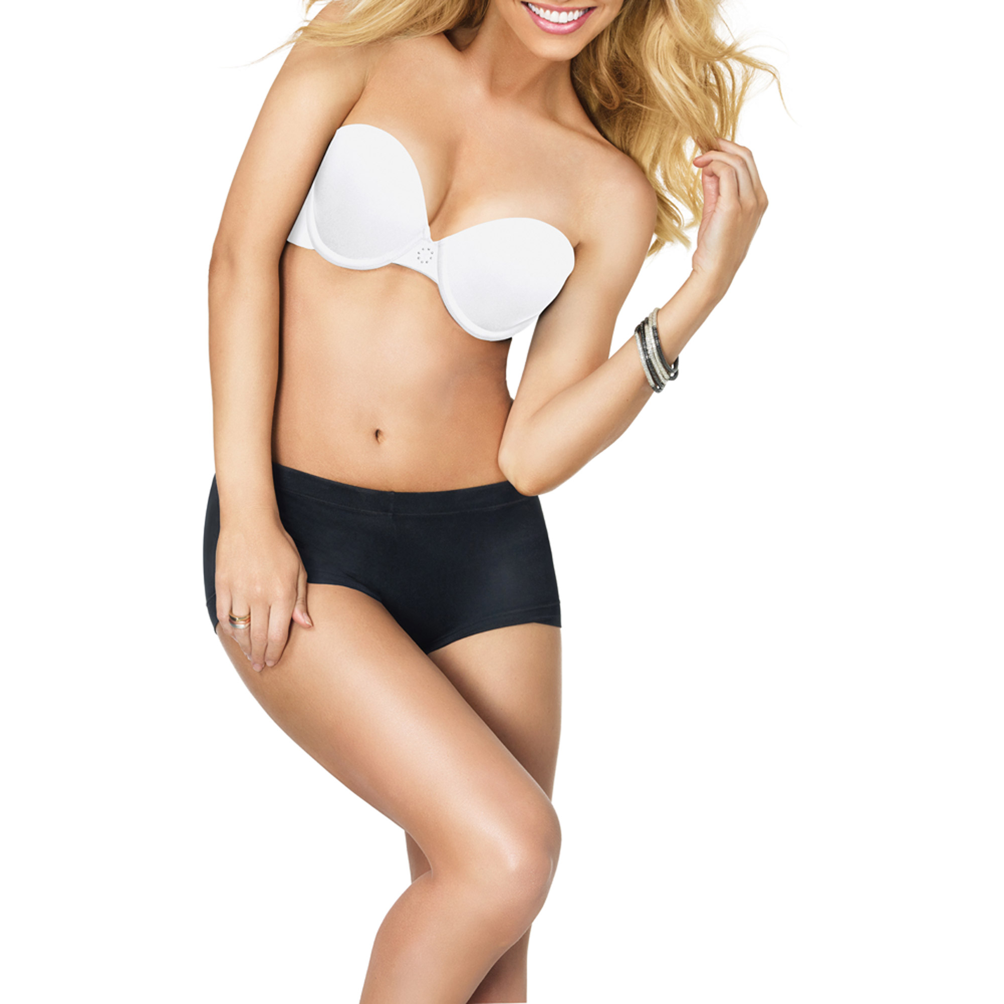 Maidenform Sweet Nothings Women's Comfort Strapless Multiway T-Shirt Demi Bra, Style 8457