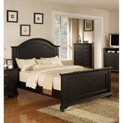 Addison Black Queen Panel Bed