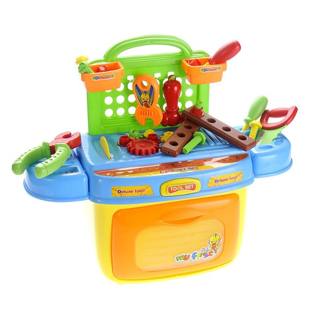 AZImport PS90 Kids Tool Box Pretend Playset with Sound & Lights Compact Portable