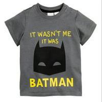 Baby Boy Novelty Short Sleeve T-shirt Batman Superhero Costume Tees Tops