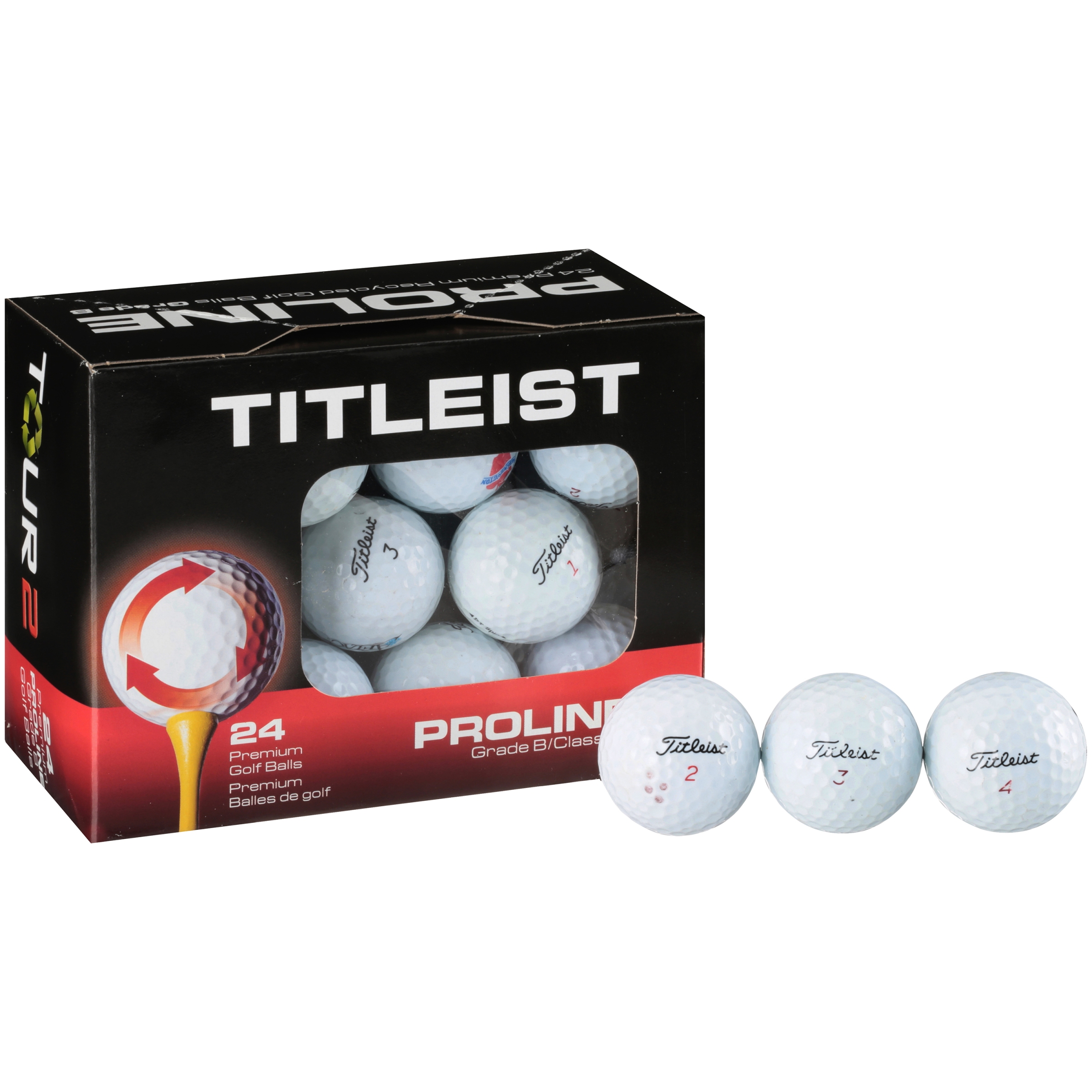 Titleist Proline Tour 2 Golf Balls, Grade B, 24 Pack