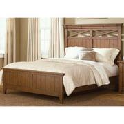Liberty Heathstone Oak Queen-size Panel Bed