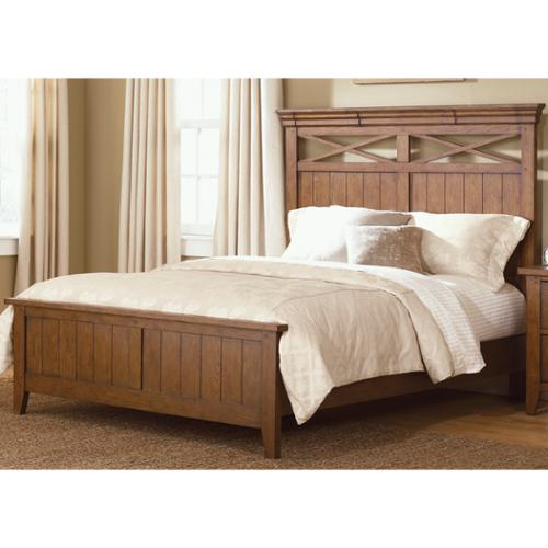 Liberty Heathstone Oak Queen-size Panel Bed