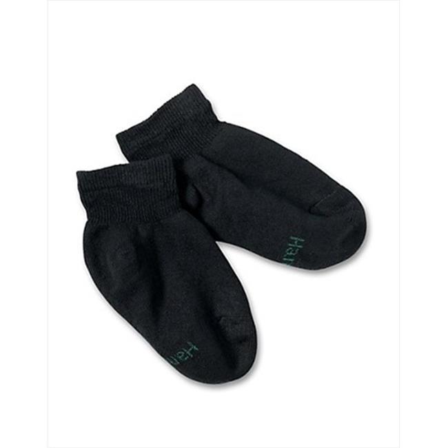 422-10 Boys Ankle Ez Sort Socks Size Large, Black, 10 Pack - image 1 of 1