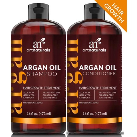 Argan Oil Regrowth Shampoo & Conditioner (2x16oz) Natural Hair Growth  Treatment