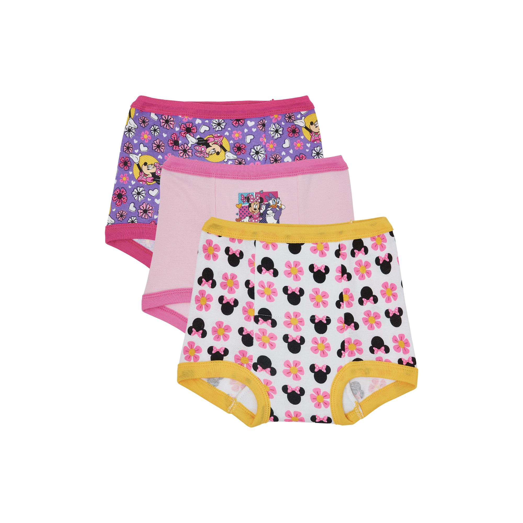 Minnie Mouse Toddler Girls' Training Pants, 3 Pack