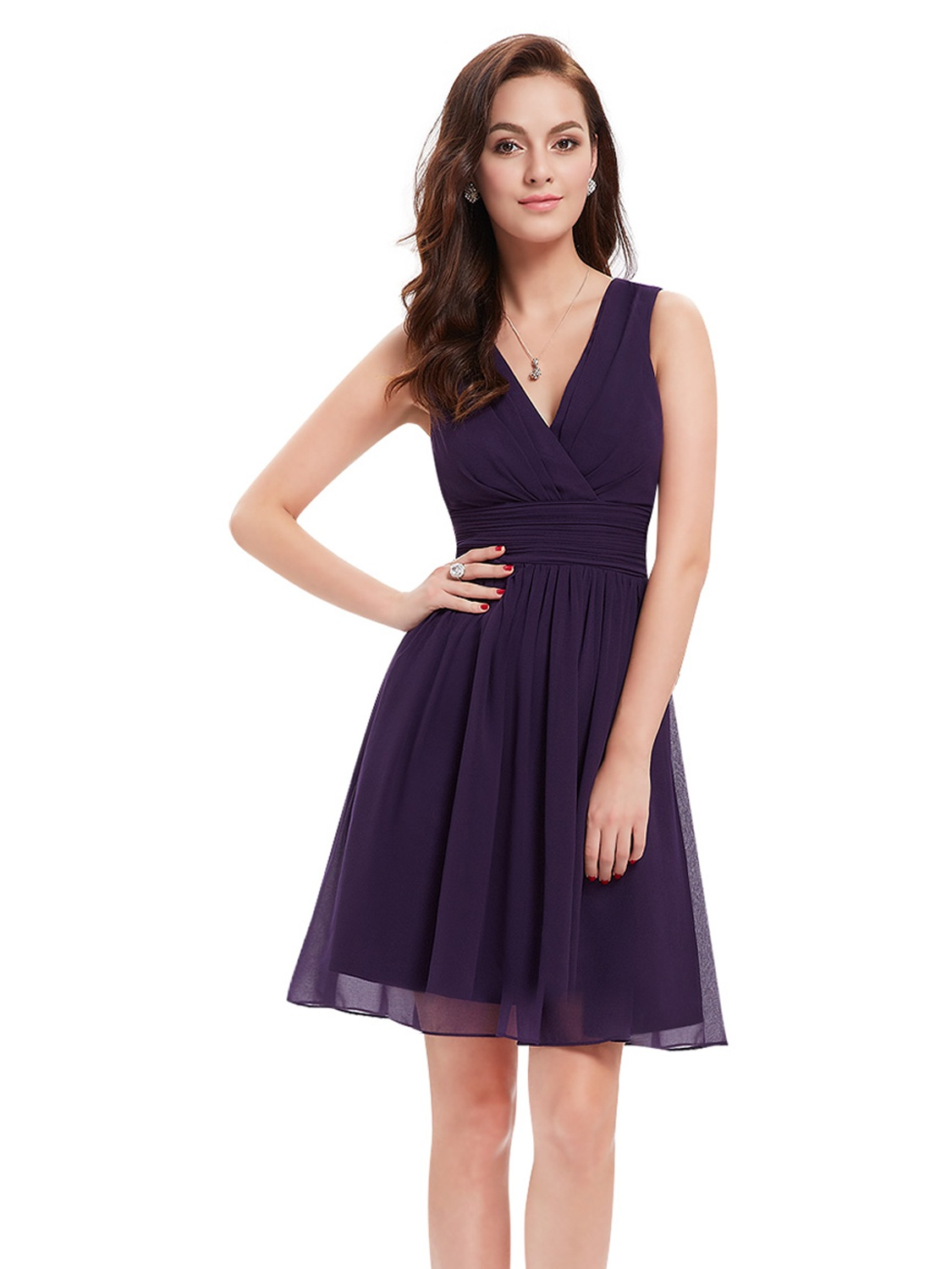 ab29591966f Ever-pretty - Ever-Pretty Women s Plus Size Short Formal Evening Cocktail  Bridesmaid Summer Casual Dresses for Women 03989 Purple US 16 - Walmart.com