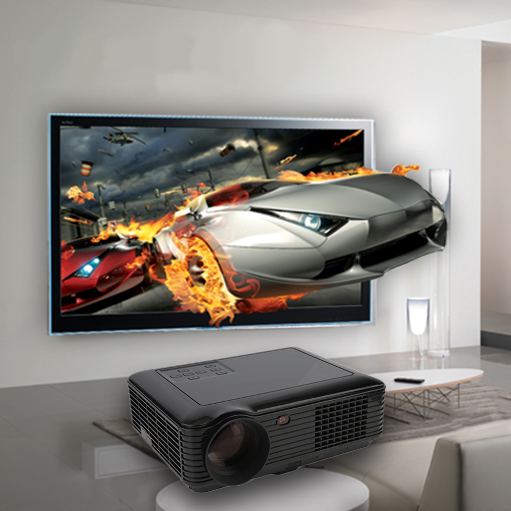7000 Lumens LED Projector Home Theater Projector USB TV 3D HD 1080P Business VGA With HDMI On Sale