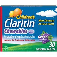 Children's Claritin 24 Hour Allergy Relief Grape Chewable Tablet 5 mg, 30 Ct