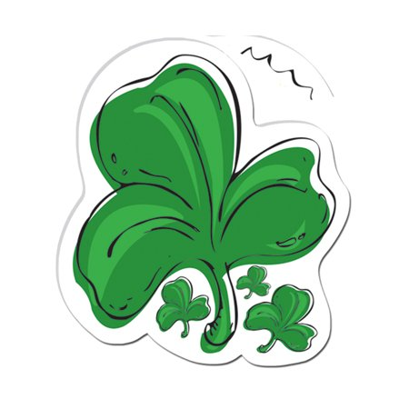 Saint Patrick's Day Leprechaun 3 Leaf Clover Cut Out Decoration