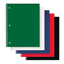 Poly Notebook (Office Depot Poly Cover Wirebound Notebook, 8in x 10 1/2in, 1 Subject, Wide Ruled, 70 Sheets, Assorted Colors,)