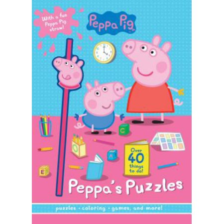 Peppa Pig Little Piggy Puzzles : With a Fun Peppa Pig Straw!