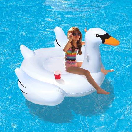 Elegant Giant Swan 73 Quot Inflatable Ride On Pool Float