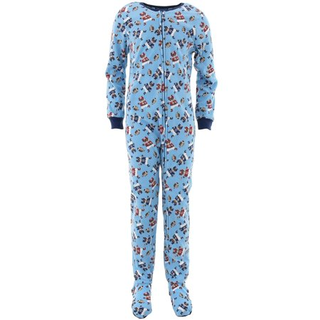 Only Boys Football Bears Blue Footed Pajamas L/12-14