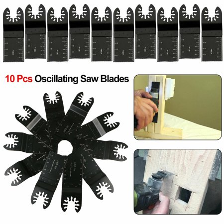 10 Oscillating Tool Saw Blades: Carbide Metal, Wood & Plastic Universal Fit For Fein Multimaster, Dewalt, Dremel MM40/45, Porter Cable, Craftsman, Ridgid, Ryobi, Makita, Milwaukee, TSV