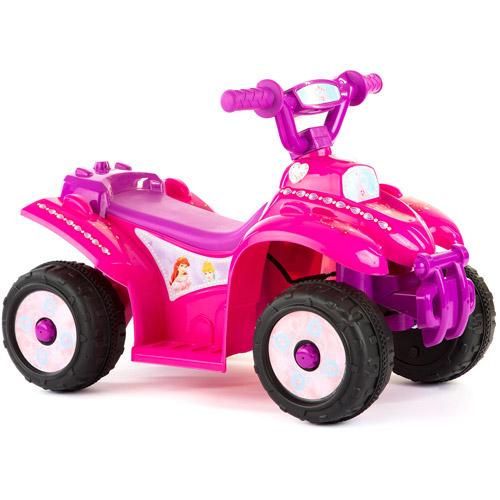 Disney Princess Girls' 6-Volt Battery-Powered Quad Ride-On