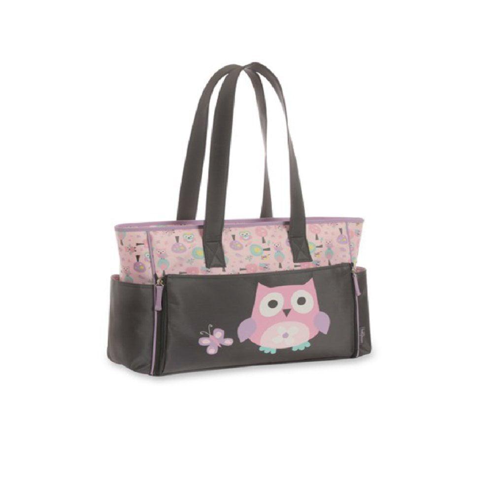 Owl Diaper Bag Tote, Features adorable owl applique By Ba...