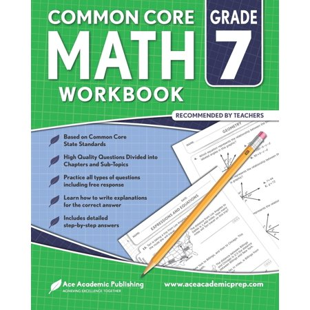 7th Grade Math Workbook: Commoncore Math Workbook (Paperback) - Halloween Math Games For 7th Grade