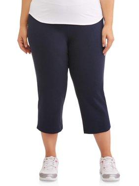 """Athletic Works Women's Plus Size Dri More 22"""" Core Capri"""