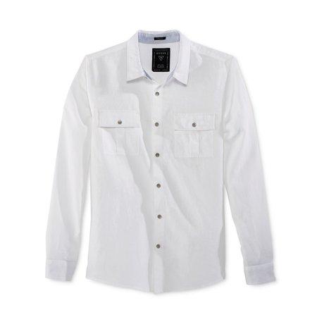 373d6b219aec GUESS - GUESS Mens Long Sleeve Button Up Shirt - Walmart.com