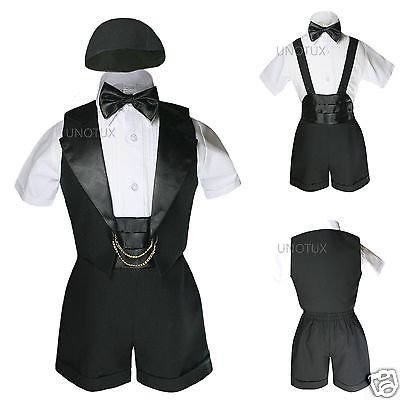 Baby Shower Boy Easter Church Christening Baptism Formal Tuxedo Suits Black (Best Baptism Gifts For Baby Boy)