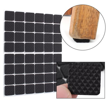 48Pcs Black Non-slip Self Adhesive Floor Protectors Furniture Sofa Table Chair Rubber Feet Pads, protector rubber pad,Rubber Feet Pads ()