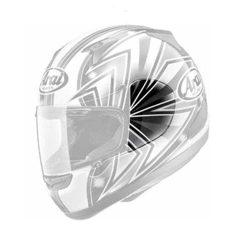 Arai Helmet Shield Cover - Arai Helmets Shield Cover Set for RX-Q - Talon Gray 4876 024876