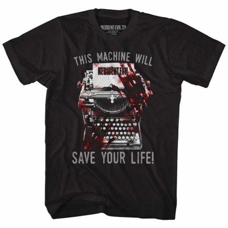 - Resident Evil Gaming Save! Adult Short Sleeve T Shirt
