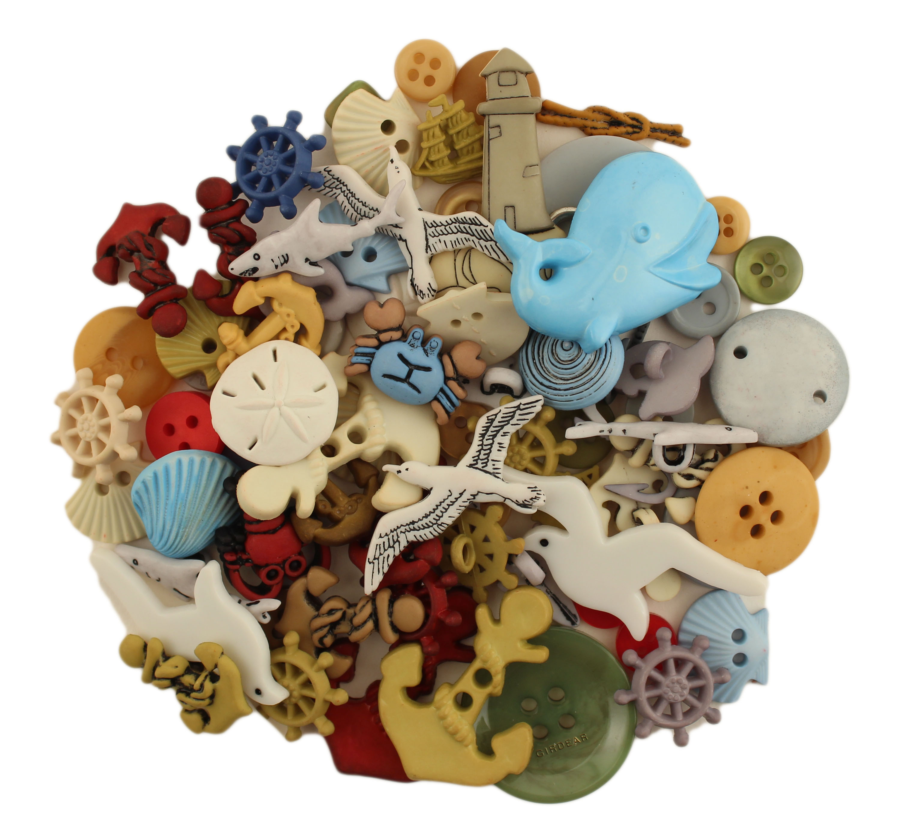 BUTTONS GALORE 50+ BUTTONS FOR SEWING & CRAFTS - NAUTICAL