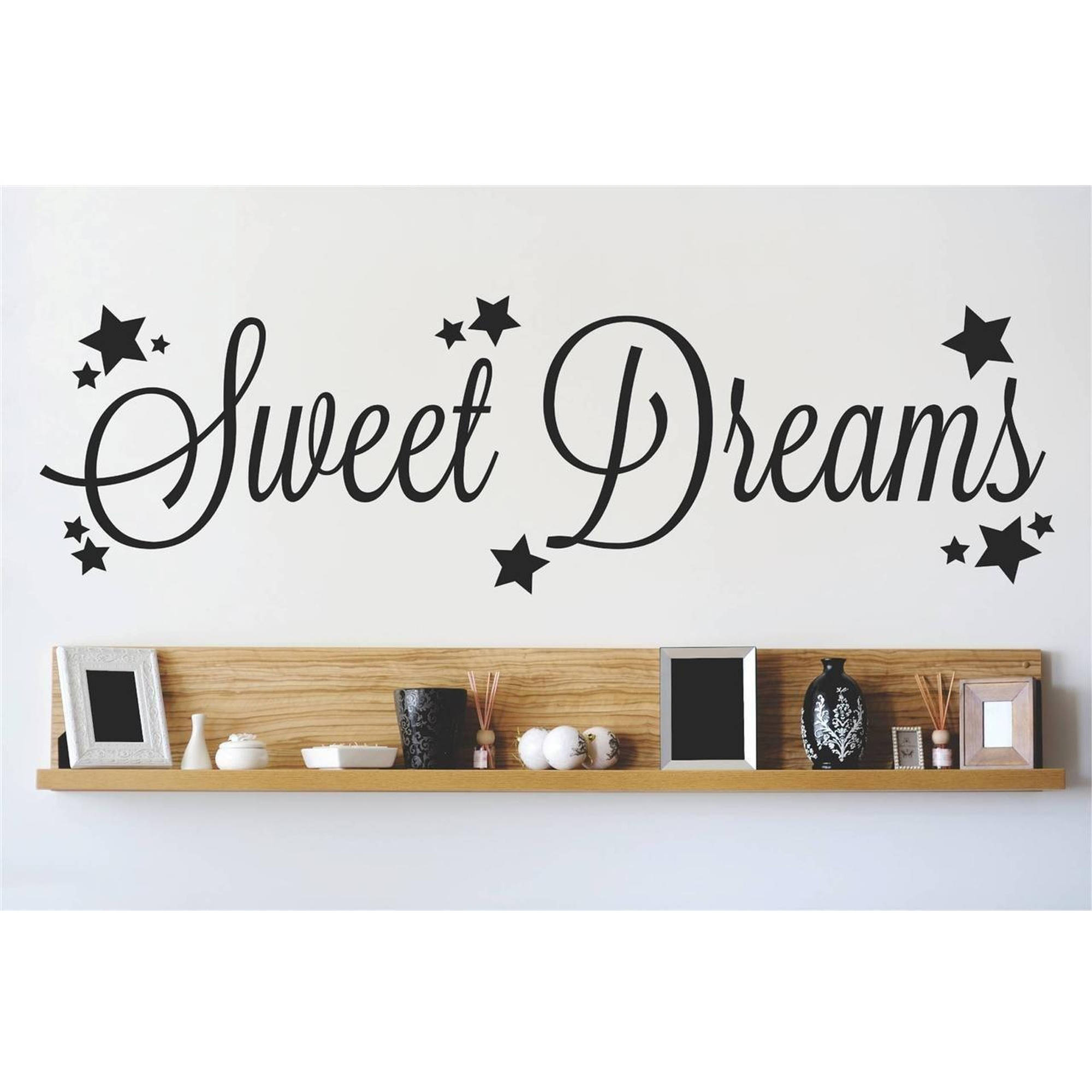 "Sweet Dream Quote Vinyl Wall Decal, 9"" x 30"", Black"