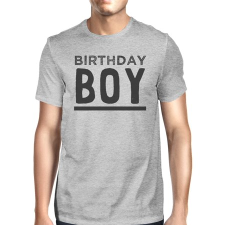 Birthday Boy Mens Grey Funny Graphic Tee Shirt For Graduation Gift ()