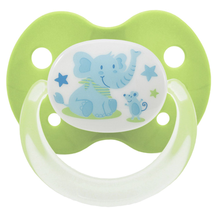Playtex Binky Silicone Pacifiers 6+ Months - 2 Pack (Styles/Colors May Vary)