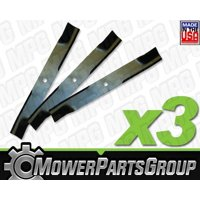 """D633 (3) Pack of Blades Fits Kubota with 48"""" cut K5575-34330 K5575-97530"""