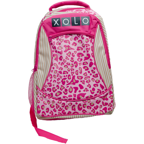 "XOLO Tabby Pink Leopard Print 16"" Backpack"