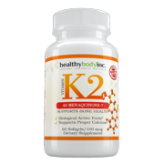 Vitamin K2 As Menaquinone-7 (60 soft gels), Promotes Healthy Bones, Cardiovascular & Arterial Support, Supports Calcium Metabolism, By Healthy Body