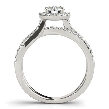 14k White Gold Diamond Engagement Ring with Split Shank Design (1 1/2 cttw) - image 1 of 2