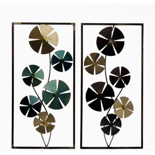 Gallerie Decor 2 Piece Geo Circles Sculpture Wall Decor Set