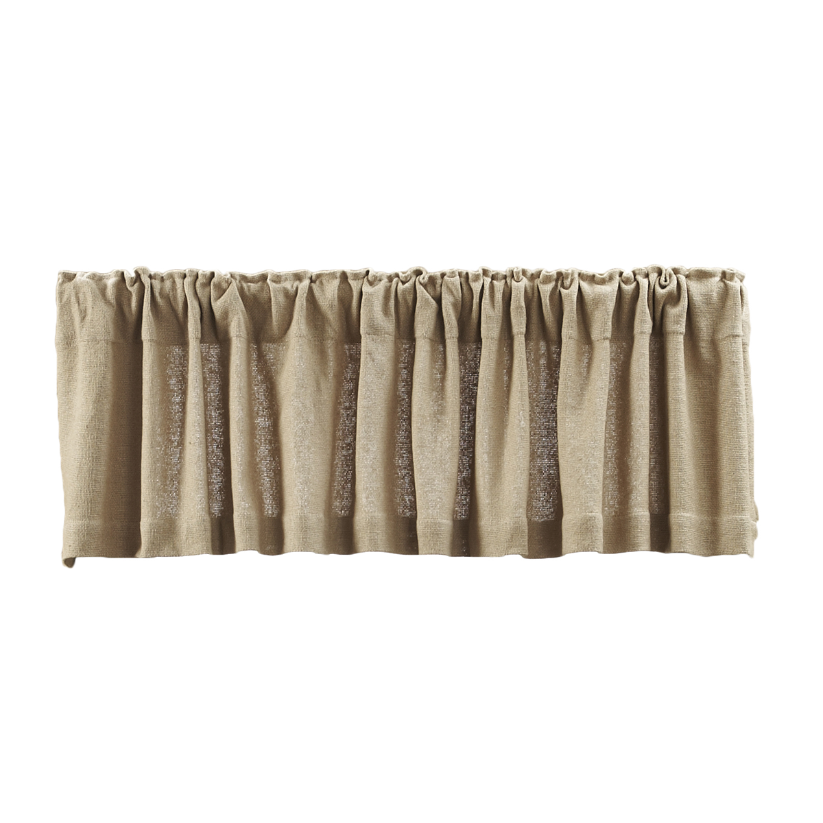 Burlap Natural Valance 16x72 by Victorian Heart Company